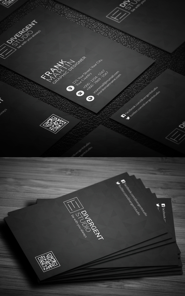 Minimal Vertical Business Card