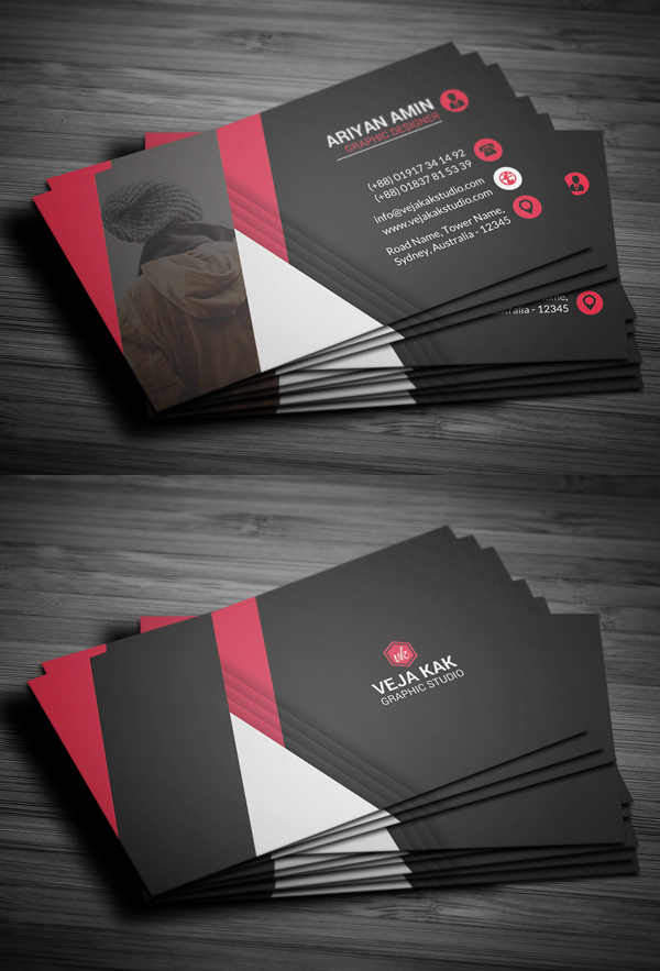 27 new professional business card psd templates design graphic professional business card template wajeb Choice Image