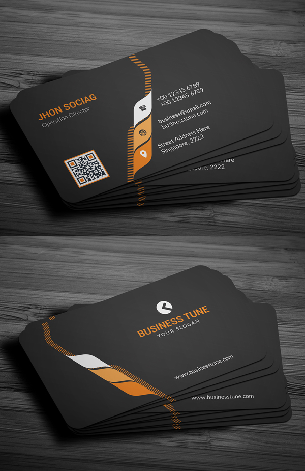 26 modern business cards psd templates print ready design corporate business card template wajeb Image collections
