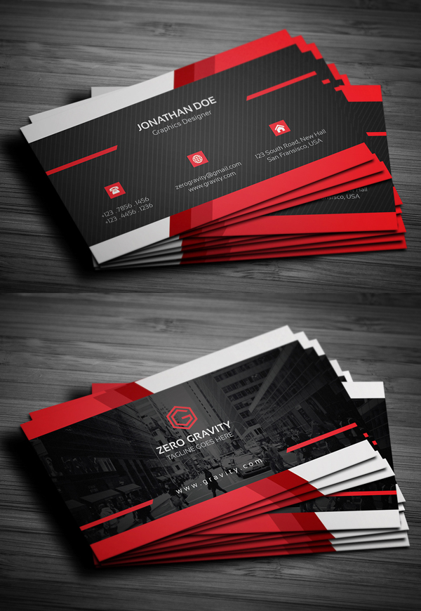 27 New Professional Business Card PSD Templates | Design | Graphic ...