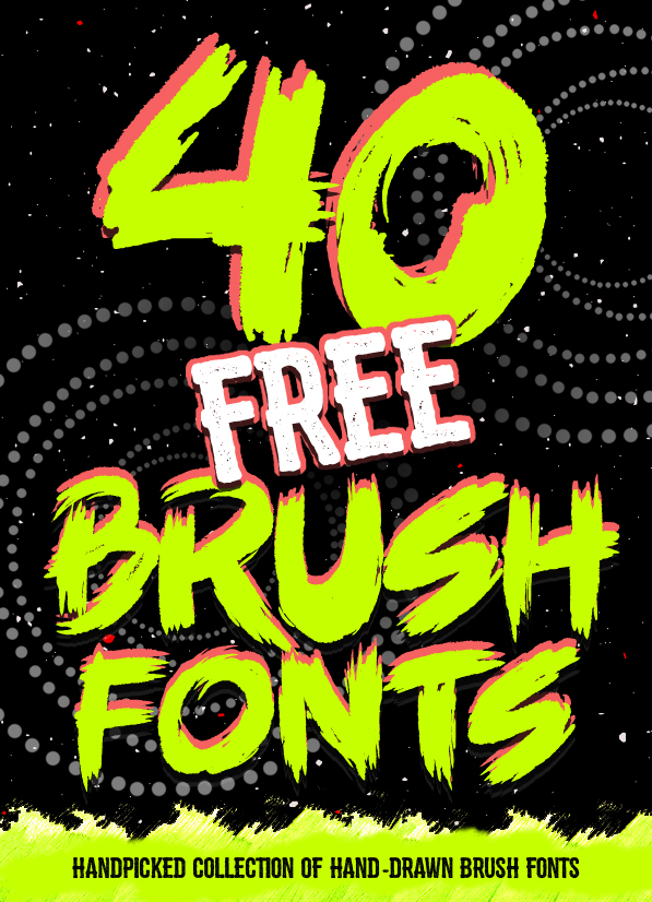 40 best free brush fonts for designers