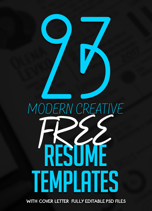 23 free creative resume templates with cover letter - Free Templates For Cover Letter For A Resume