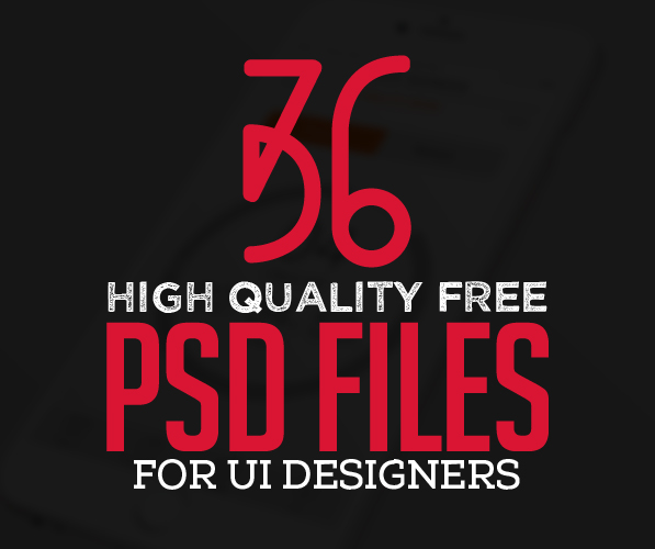 36 New Free Photoshop PSD Files for UI Designers | Freebies