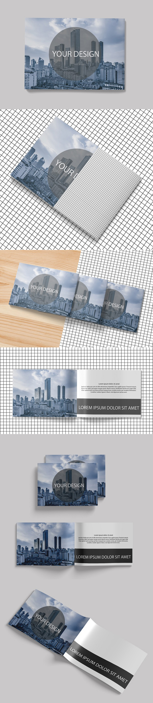 Free A4 Landscape Brochure Mock-Up