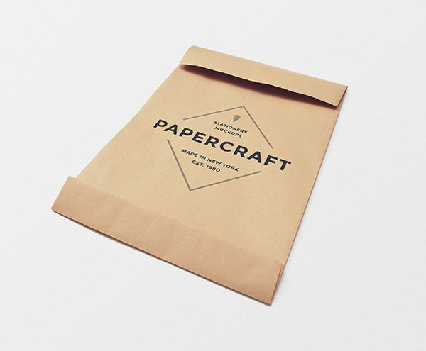 Free Big Papercraft Envelope Mockup