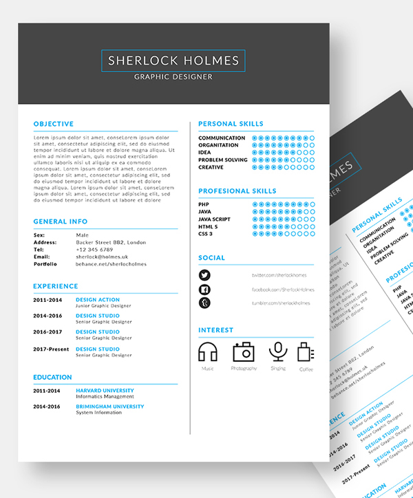 50 Free Resume Templates: Best Of 2018 -  20