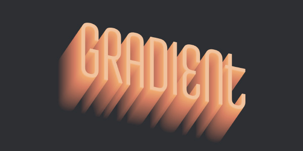 3D Text with a Depth Gradient