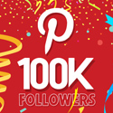 Post Thumbnail of Celebrating 100,000 Pinterest followers