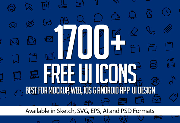 1700 free icons for web ios and android ui design icons