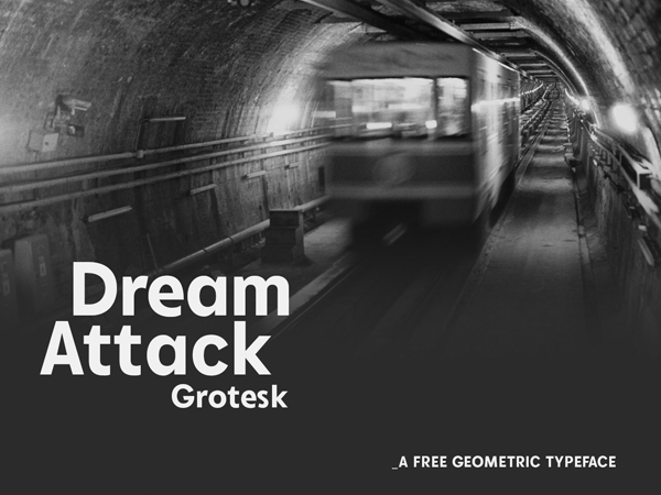 Dream Attack Grotesk Free Font