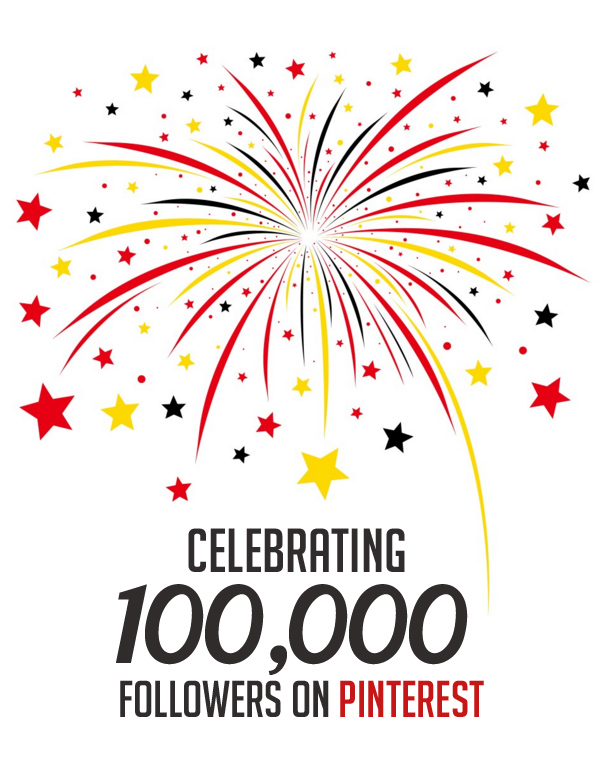 Celebrating 100,000 followers on pinterest