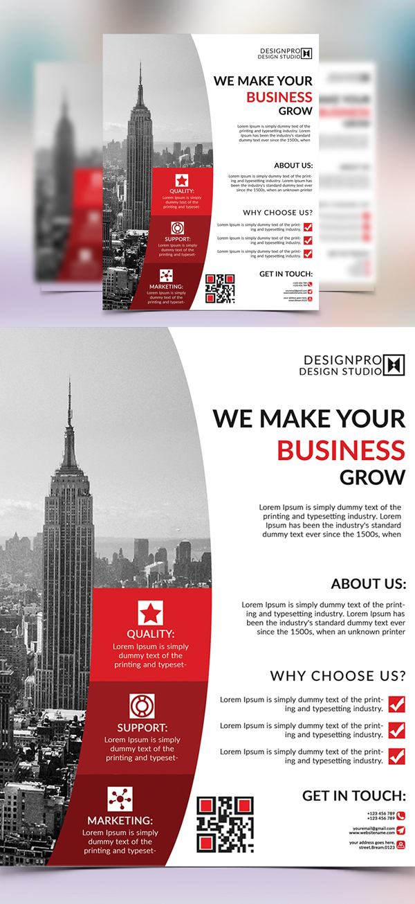 Corporate Flyer Templates | Design | Graphic Design Junction