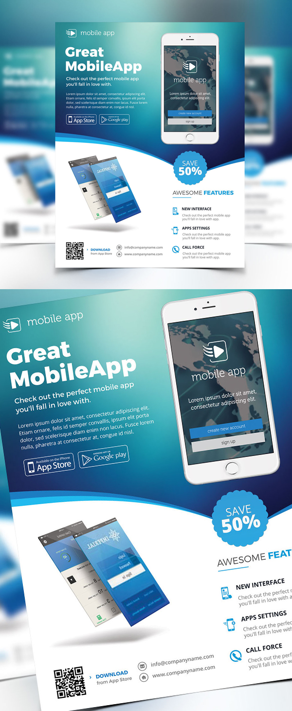 Creative Apps Promotion Flyer Template