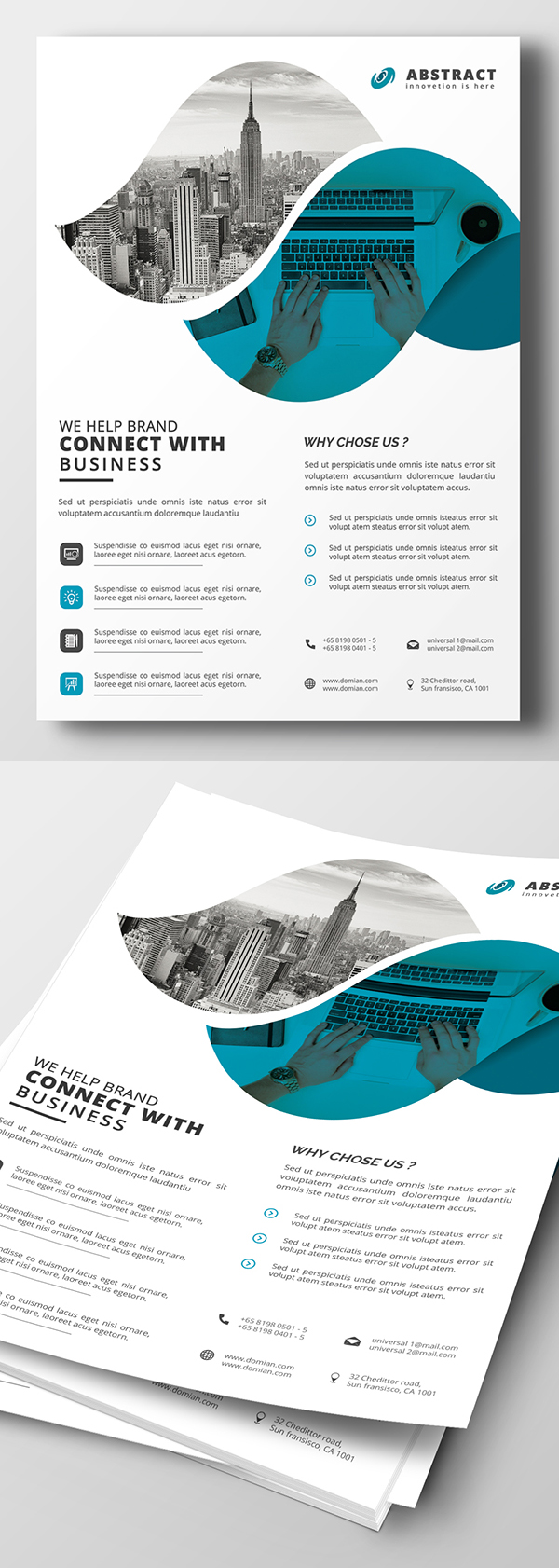 Corporate flyer templates design graphic design junction creative corporate flyer psd template wajeb