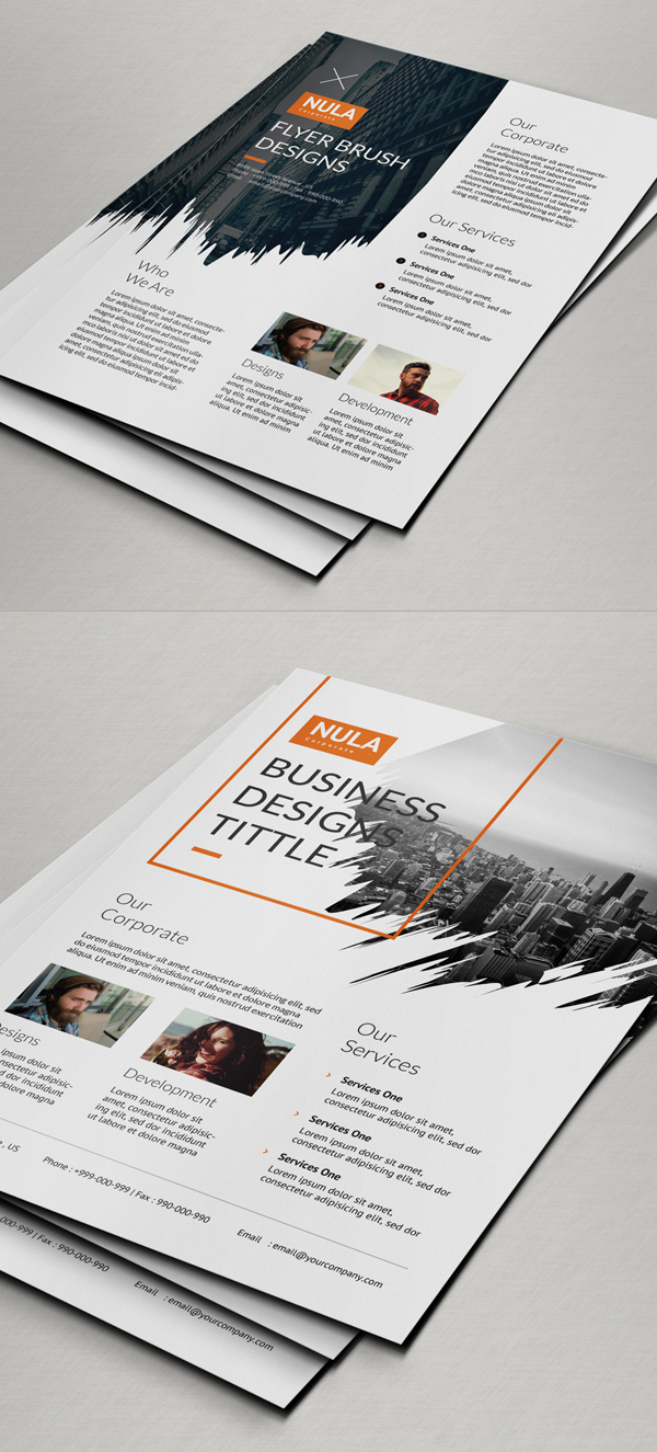 Brush Corporate Flyer Template