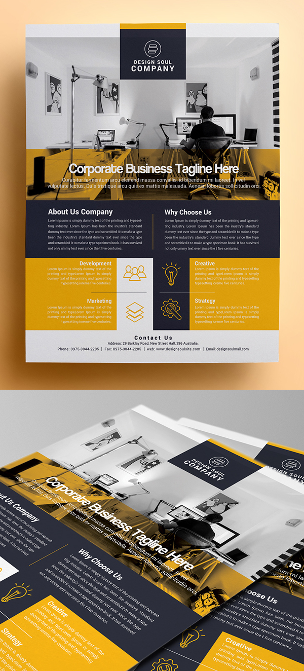 Corporate flyer templates design graphic design junction corporate photoshop flyer template accmission