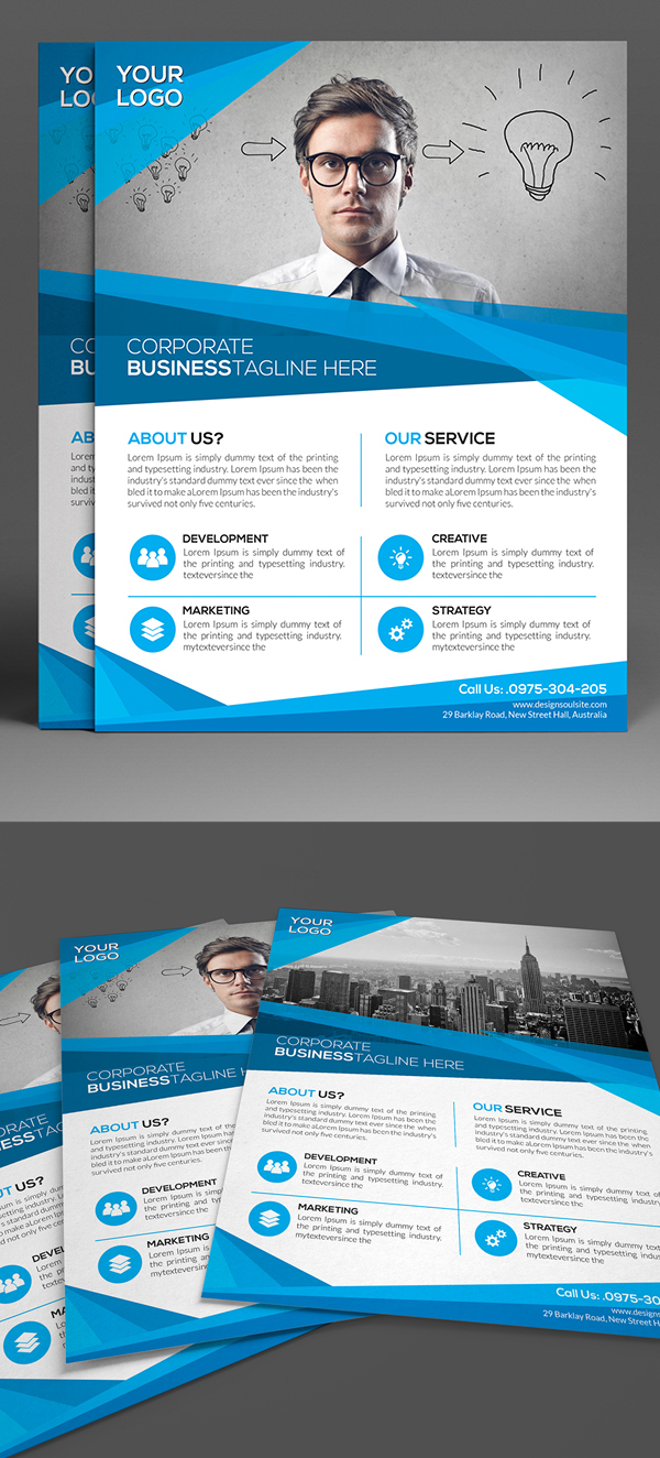 Print Ready Corporate Flyer Template