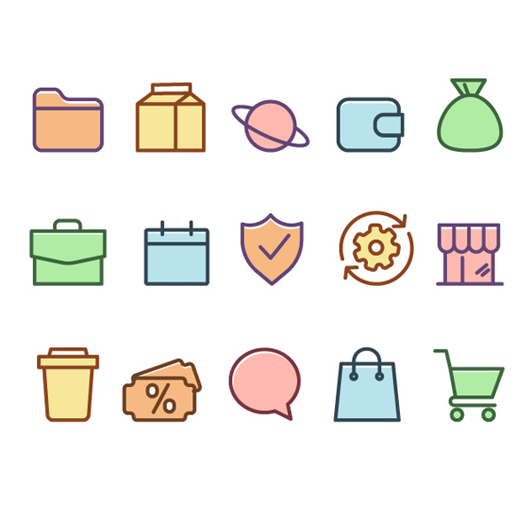 Free General Color Icons Set