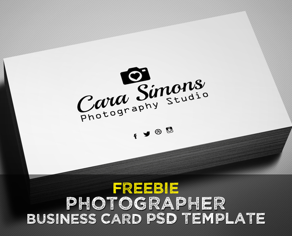 Freebie Photographer Business Card PSD Template Freebies - Photography business cards templates free