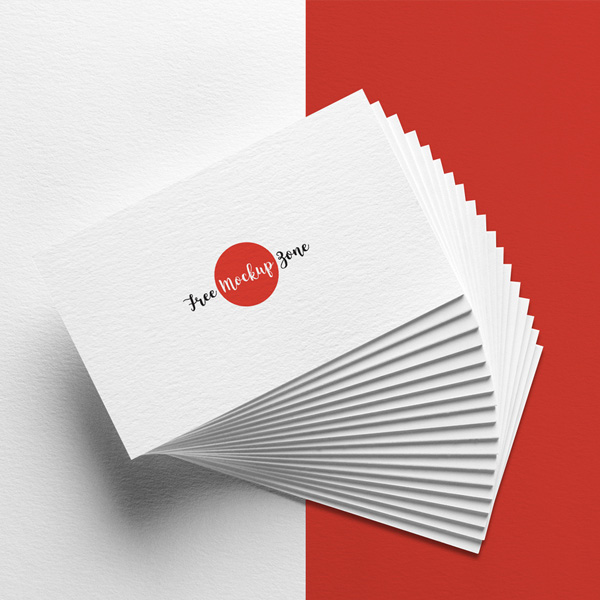 Free Elegant Business Card MockUp on Texture Background