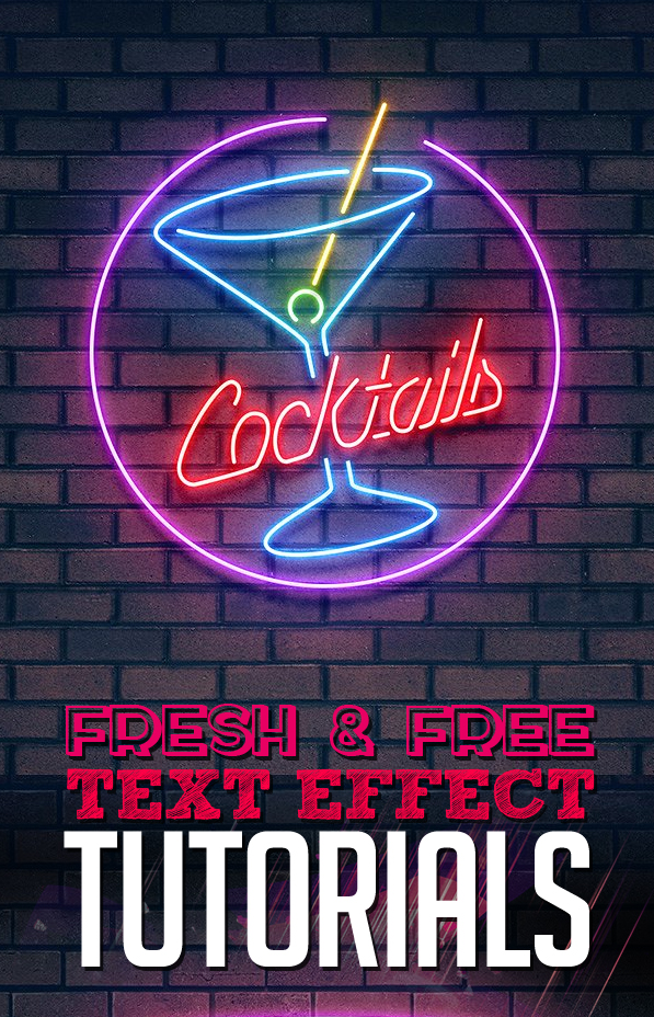 Free Text Effect Tutorials (26 Tuts) | Tutorials | Graphic ...