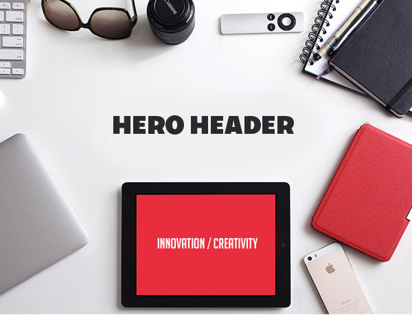 Hero header in Web Design