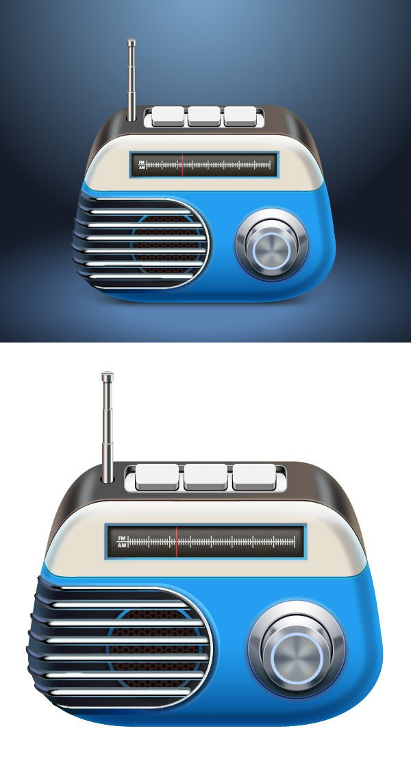 Learn to create a Vector Radio in Adobe Illustrator