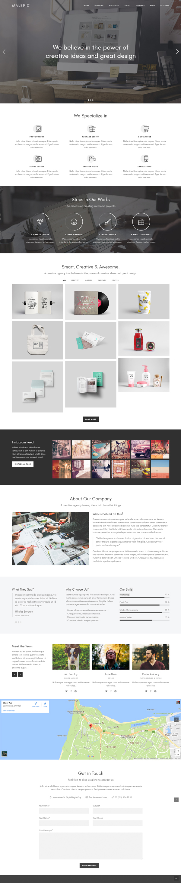 Malefic - Multipurpose One Page Responsive WordPress Theme