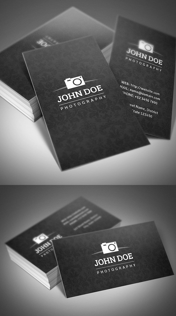 Creative photography business cards design graphic design junction simple photography business card cheaphphosting