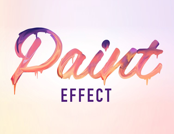 Learn How to Create a Paint Text Effect in Photoshop Tutorial