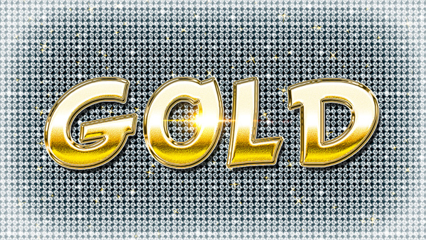 Photoshop Gold Style Shiny Text Tutorial