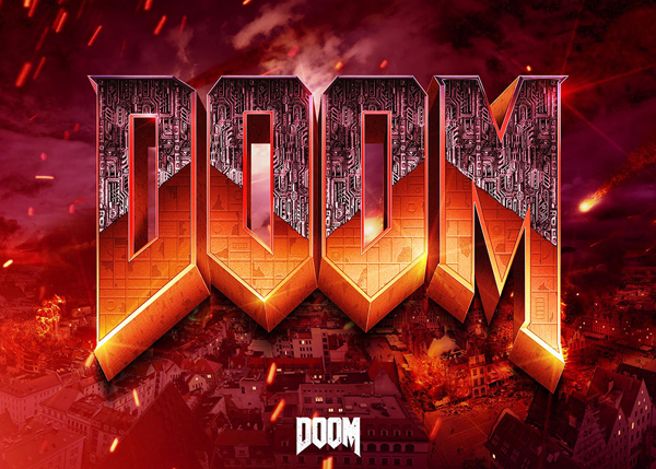 How to Create DOOM Logo in Photoshop CC