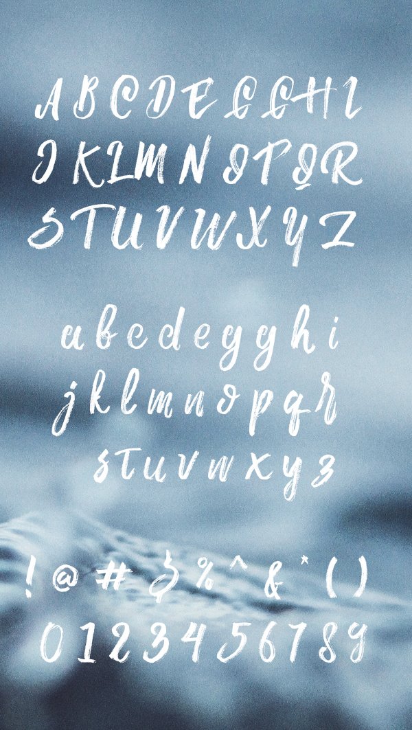 Aline free font letters