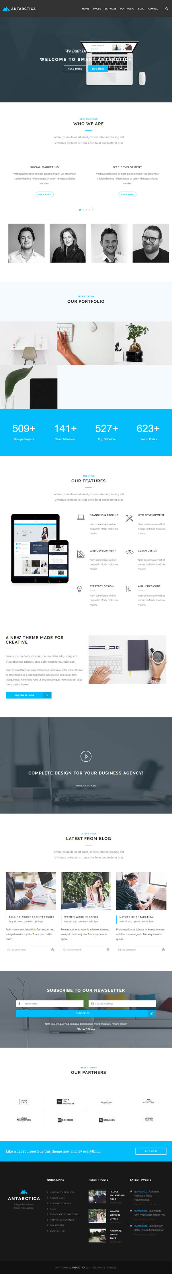 Antarctica - Business Portfolio WordPress Theme