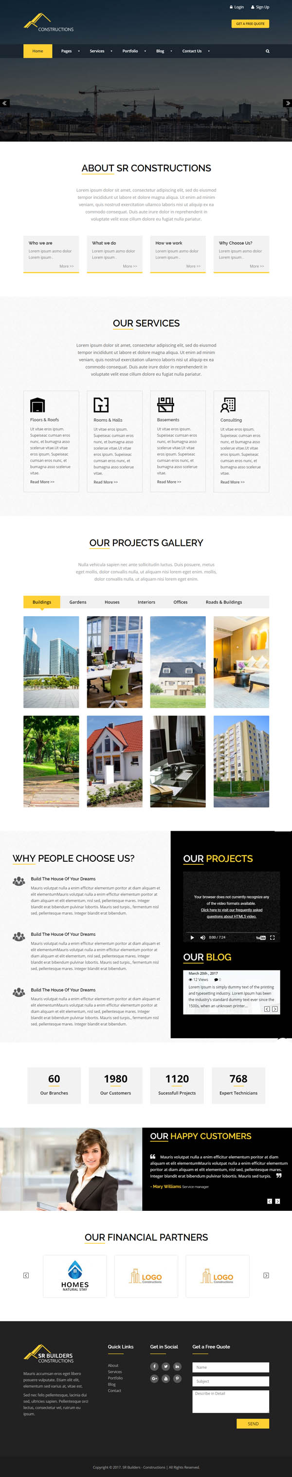 Constructions Business WordPress Theme