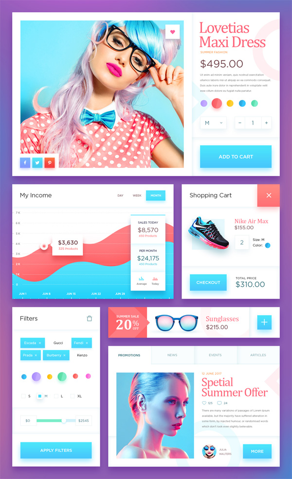 Ecommerce UI Kit - Descarga gratuita