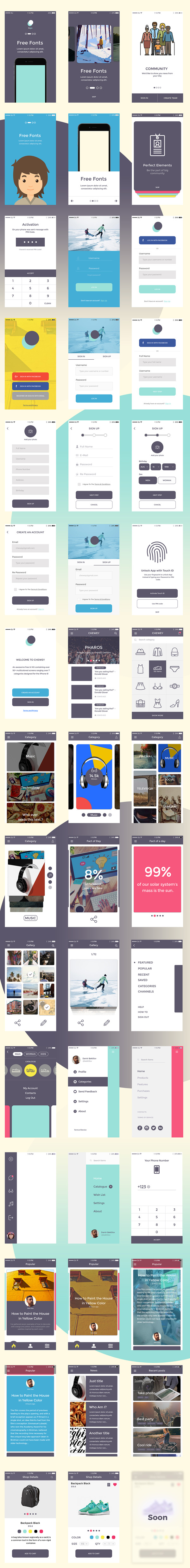 Chewey iOS UI Kit - Free Download