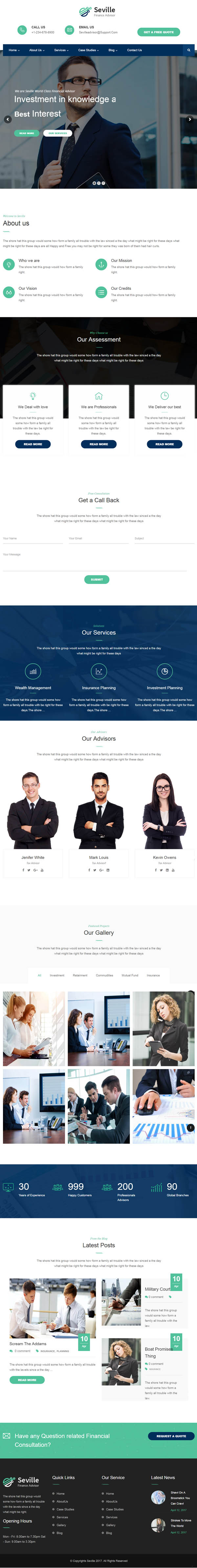 Seville -Business Consulting and Professional Services WordPress Theme