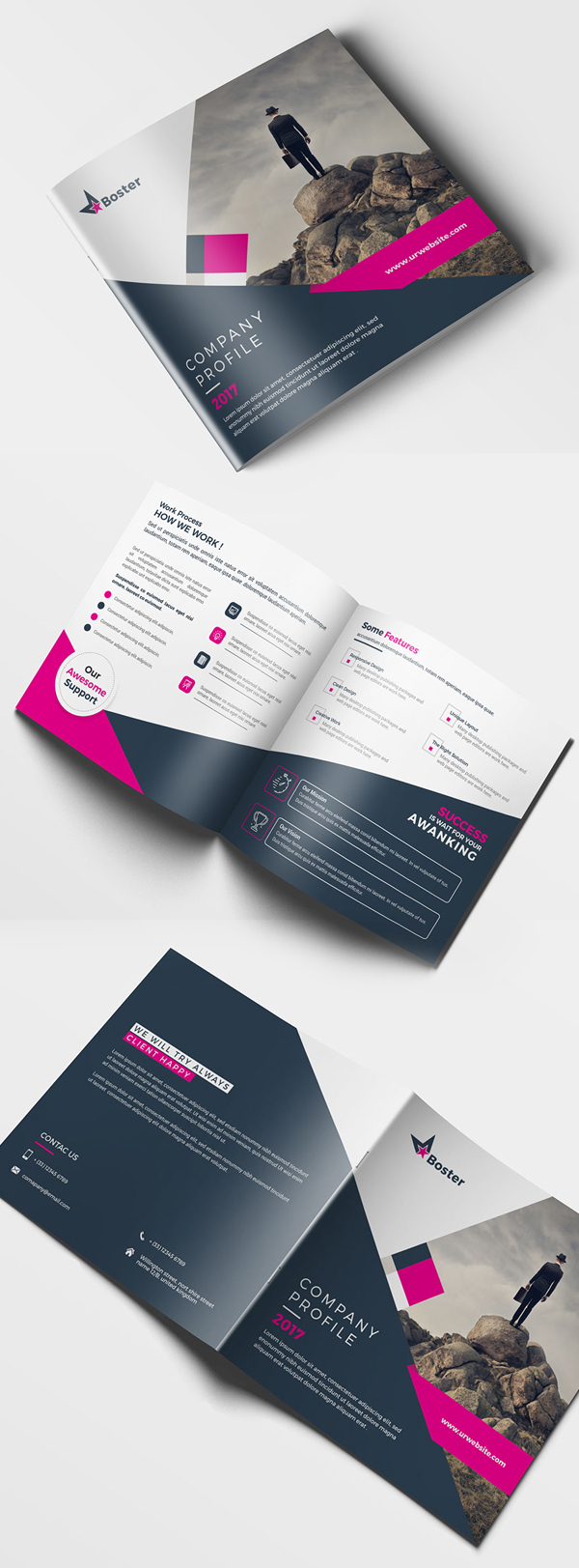 Creative Square Brochure Template