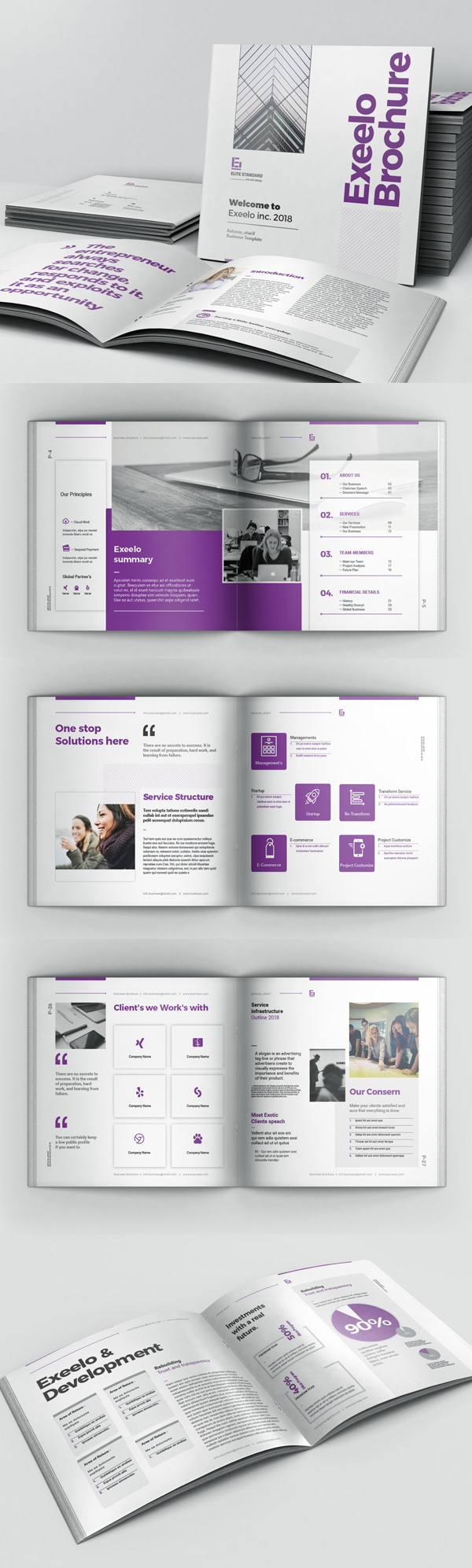 Square Brochure Template