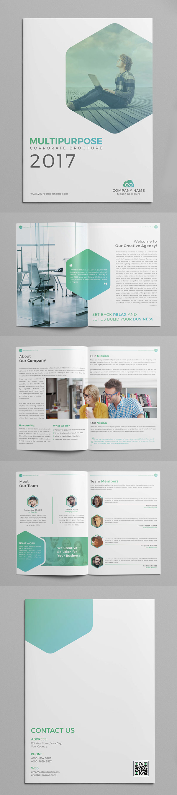 New Creative Brochure Catalog Templates Design Graphic - Company profile brochure template