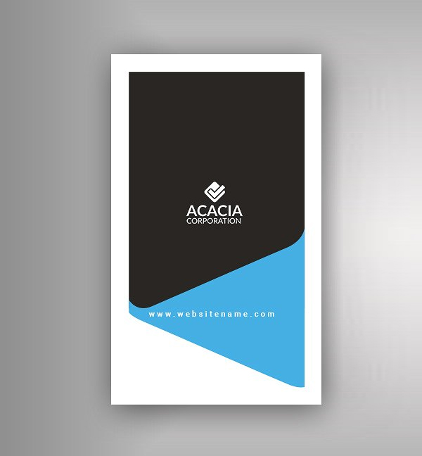 Vertical Business Card Design