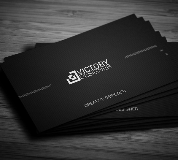 Black & White Corporate Business Card