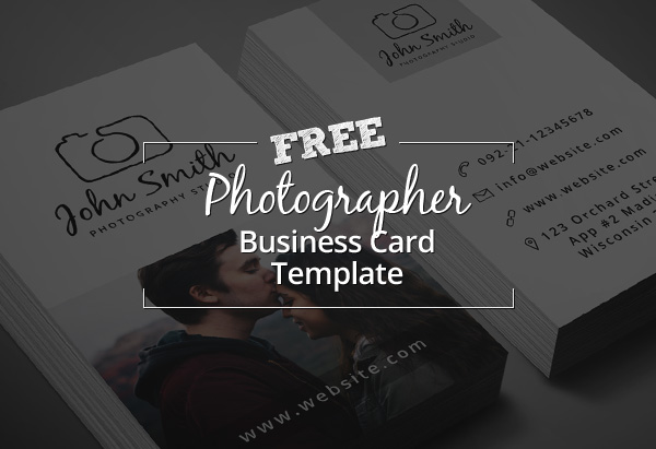 Freebie Minimal Photographer Business Card PSD Template - Photography business cards templates for photoshop