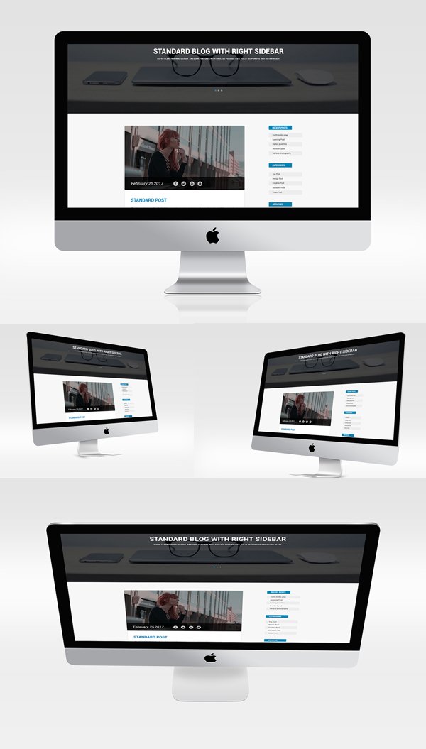 Multiview I Mac Mockups PSD Free