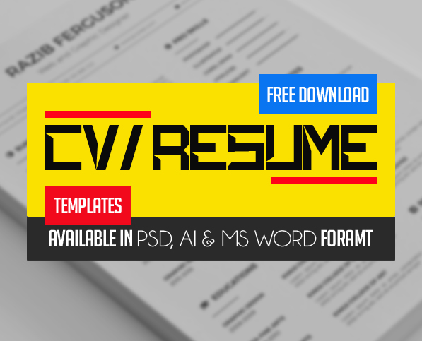 21 fresh free professional cv resume templates - Free Job Resume Templates