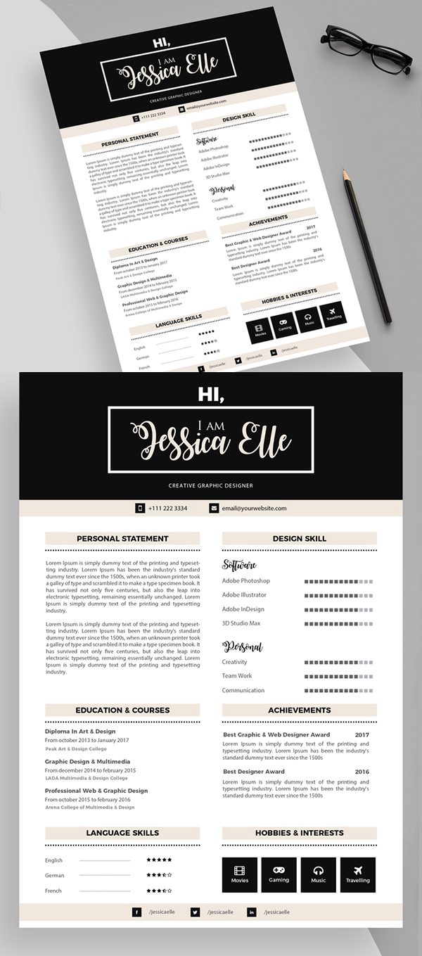 50 Free Resume Templates: Best Of 2018 -  31