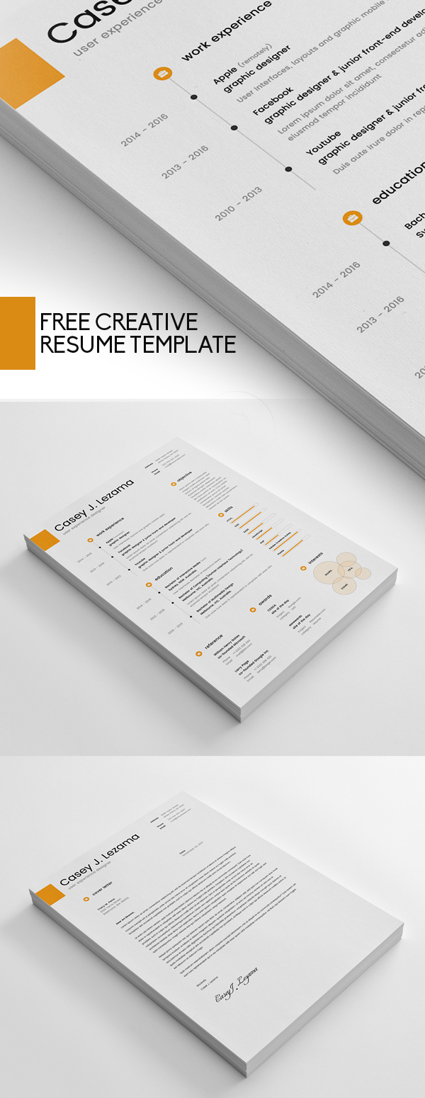 Free Creative Resume Template
