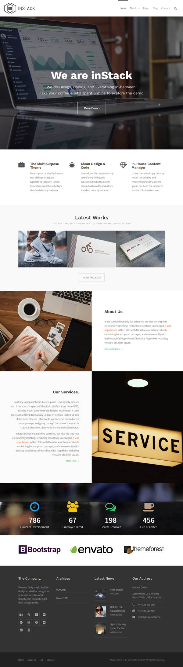 inStack - Responsive Multipurpose Business WordPress Theme