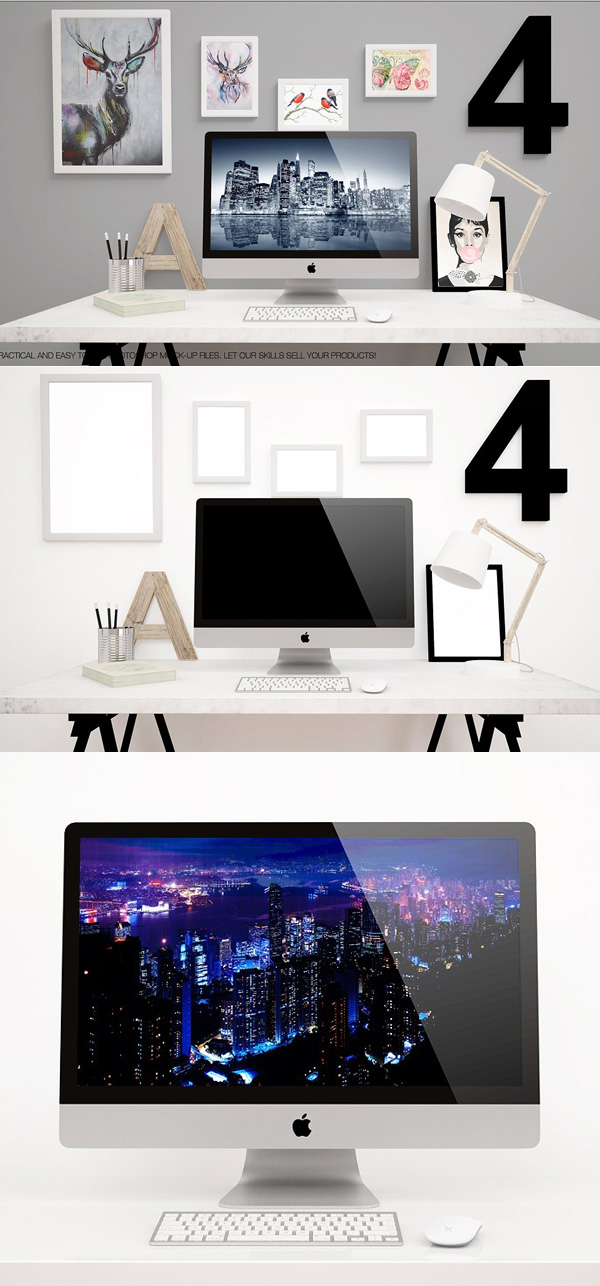 Apple IMac 27inch 2017 New Mockups